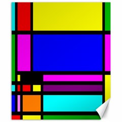Mondrian Canvas 8  X 10  (unframed)