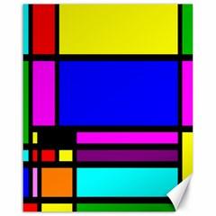 Mondrian Canvas 16  x 20  (Unframed)