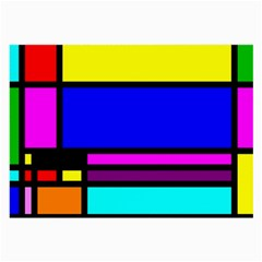 Mondrian Glasses Cloth (Large, Two Sided)