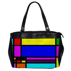 Mondrian Oversize Office Handbag (one Side)