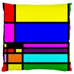 Mondrian Large Cushion Case (Single Sided)
