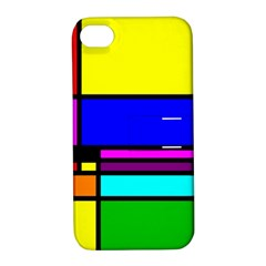Mondrian Apple Iphone 4/4s Hardshell Case With Stand