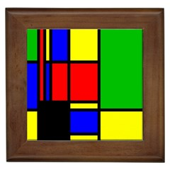 Mondrian Framed Ceramic Tile