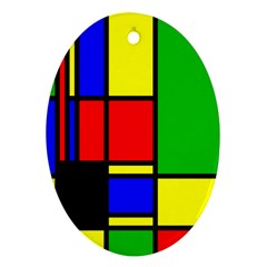 Mondrian Oval Ornament
