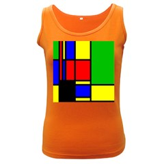 Mondrian Women s Tank Top (dark Colored)
