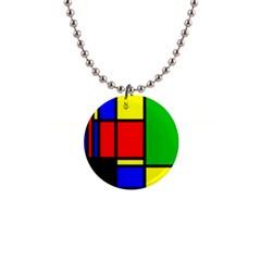 Mondrian Button Necklace