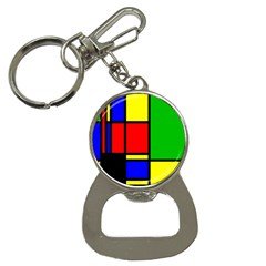 Mondrian Bottle Opener Key Chain