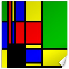 Mondrian Canvas 20  x 20  (Unframed)