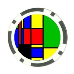 Mondrian Poker Chip (10 Pack)