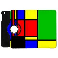 Mondrian Apple Ipad Mini Flip 360 Case