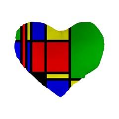 Mondrian 16  Premium Heart Shape Cushion