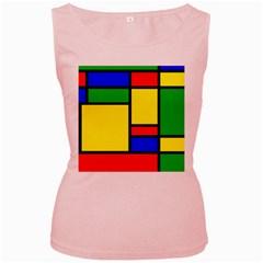 Mondrian Women s Tank Top (Pink)