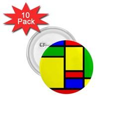Mondrian 1.75  Button (10 pack)