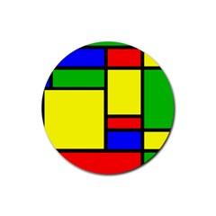 Mondrian Drink Coaster (round)