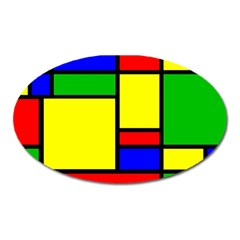 Mondrian Magnet (Oval)