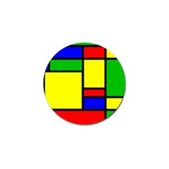 Mondrian Golf Ball Marker 4 Pack