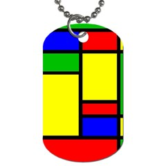 Mondrian Dog Tag (two Sided)