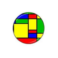 Mondrian Golf Ball Marker (for Hat Clip)