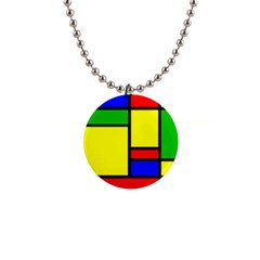 Mondrian Button Necklace