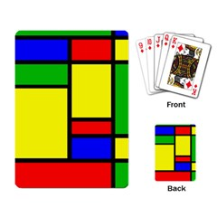 Mondrian Playing Cards Single Design