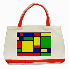 Mondrian Classic Tote Bag (red)
