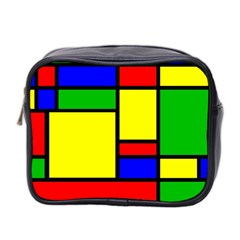 Mondrian Mini Travel Toiletry Bag (two Sides)