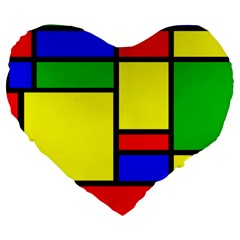 Mondrian 19  Premium Heart Shape Cushion