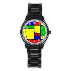 Mondrian Sport Metal Watch (black)