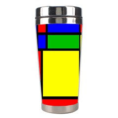 Mondrian Stainless Steel Travel Tumbler