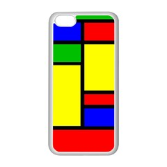 Mondrian Apple iPhone 5C Seamless Case (White)
