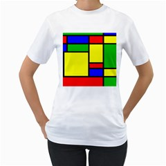 Mondrian Women s T Shirt (white)