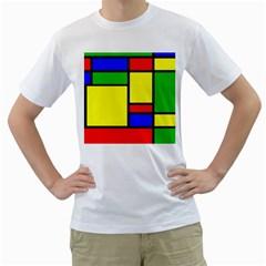 Mondrian Men s T Shirt (white)