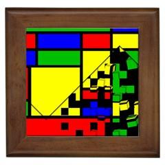 Moderne Framed Ceramic Tile