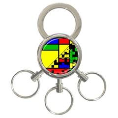 Moderne 3 Ring Key Chain