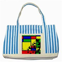 Moderne Blue Striped Tote Bag