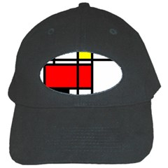 Mondrian Black Baseball Cap