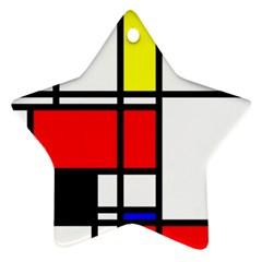 Mondrian Star Ornament