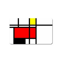 Mondrian Magnet (Name Card)