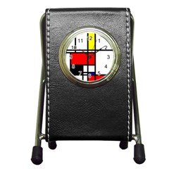 Mondrian Stationery Holder Clock