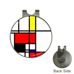 Mondrian Hat Clip with Golf Ball Marker