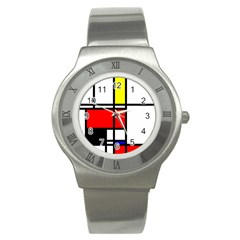 Mondrian Stainless Steel Watch (slim)