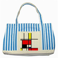 Mondrian Blue Striped Tote Bag