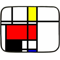 Mondrian Mini Fleece Blanket (Two Sided)