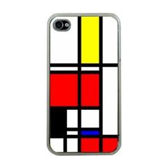 Mondrian Apple Iphone 4 Case (clear)