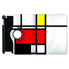 Mondrian Apple Ipad 3/4 Flip 360 Case