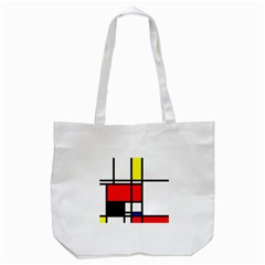 Mondrian Tote Bag (white)