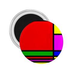 Mondrian 2.25  Button Magnet