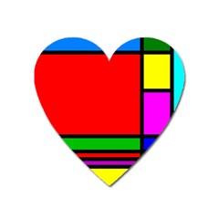 Mondrian Magnet (Heart)