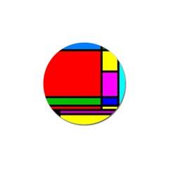 Mondrian Golf Ball Marker