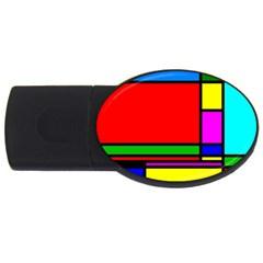 Mondrian 2gb Usb Flash Drive (oval)